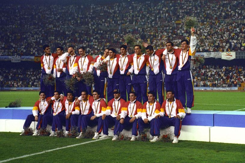 Złoto zdobyte przez hiszpańskich piłkarzy w Barcelonie podczas IO w 1992 roku /Ross Kinnaird /Getty Images