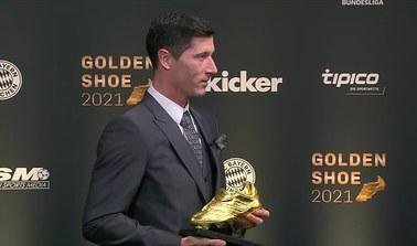 Złoty But dla Roberta Lewandowskiego. Piłkarz odebrał trofeum