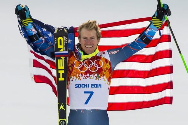 Złoty medalista w slalomie gigancie Ted Ligety /JEAN-CHRISTOPHE BOTT /PAP/EPA