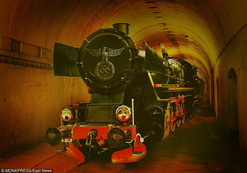 Złoty pociąg, fotomontaż /East News