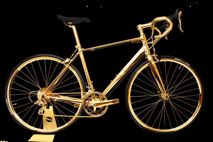 Złoty rower kosztuje 250 tys. funtów /www.goldgenie.com /