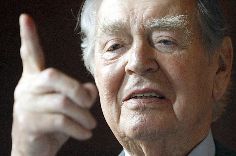 Zmarł Berthold Beitz - przedsiębiorca i przyjaciel Polski. /AFP