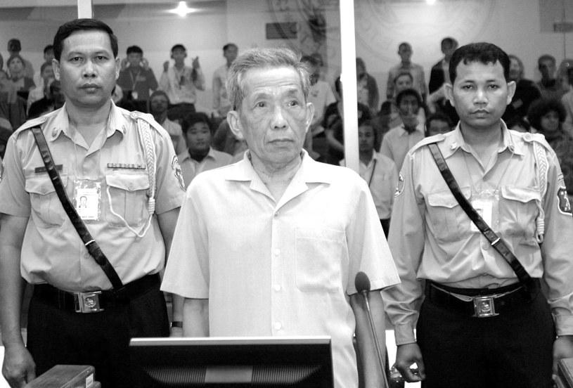 """Zmarł """"Duch"""", skazany na dożywocie były naczelnik więzienia reżimu Czerwonych Khmerów /MAK REMISSA /PAP/EPA"""