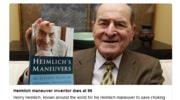 Zmarł słynny lekarz Henry Heimlich. Dzięki niemu uratowano tysiące ludzi