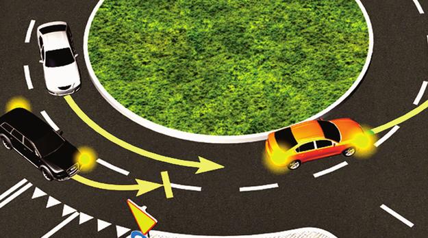 zmiana pasa ruchu na rondzie /Motor