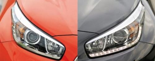 Zmienione reflektory. Ich kształt jest wprawdzie identyczny w przypadku obu aut, jednak te w Cee'dzie GT nie mają paska z diodami do jazdy dziennej. /Motor