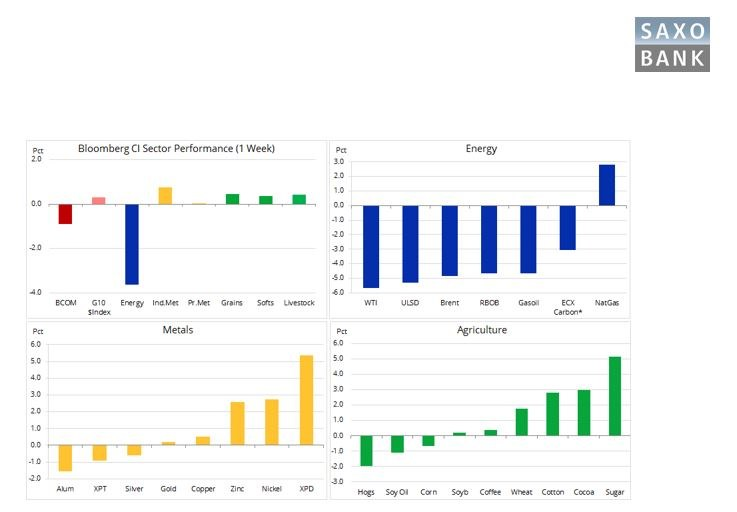Zmienny początek 2020 roku na rynku surowców /saxobank