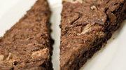 Zmysłowe smaki: Brownie z masłem orzechowym