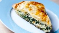 Zmysłowe smaki: Ciasto z serem feta i szpinakiem
