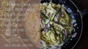 Zmysłowe smaki: Makaron ze szparagami i szynką