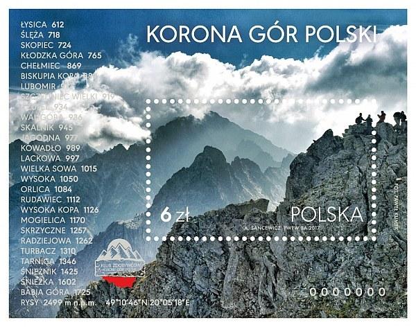 """Znaczek """"Korona Gór Polski"""" /materiały prasowe"""