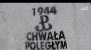 Znak Polski Walczącej na murach Warszawy