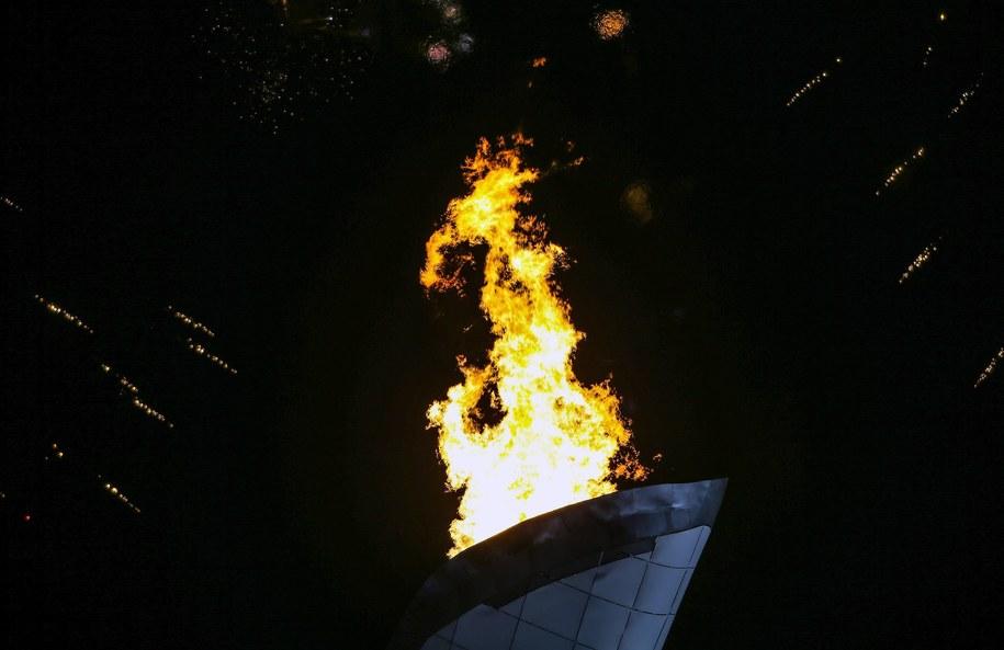 Znicz olimpijski w Soczi /HANNIBAL HANSCHKE /PAP/EPA