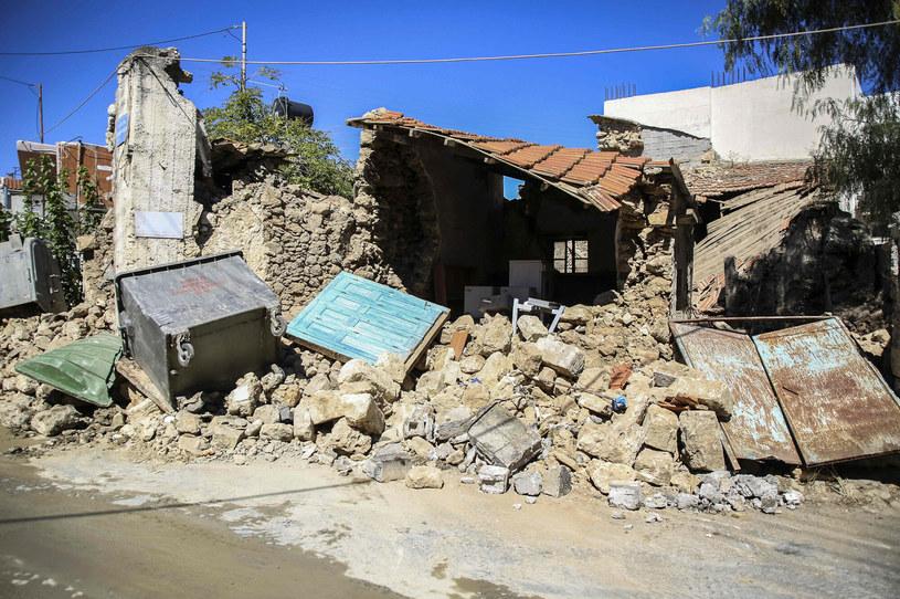 Zniszczenia na Krecie po ostatnim trzęsieniu ziemi /COSTAS METAXAKIS/AFP /East News