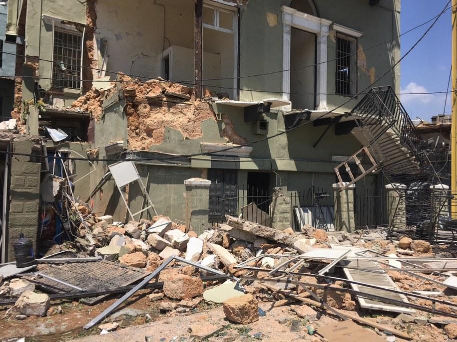 Zniszczenia po eksplozji w Bejrucie /PCPM /