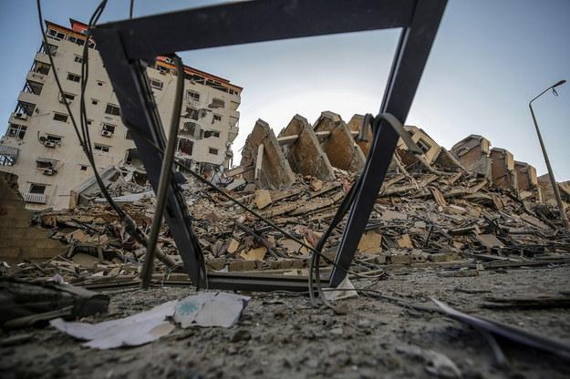 Zniszczenia po izraelskim ostrzale /MOHAMMED SABER  /PAP/EPA