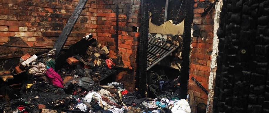 Zniszczenia po pożarze są ogromne /Archiwum prywatne /