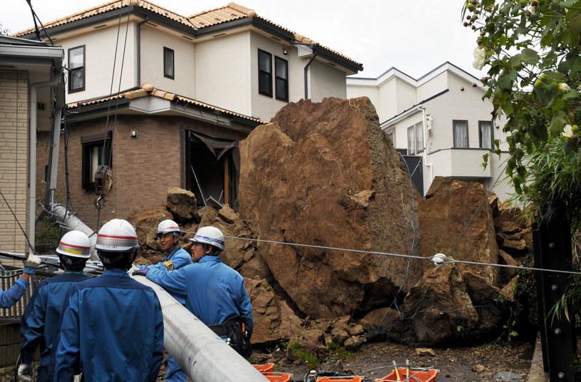 Zniszczenia po przejściu tajfunu /AFP