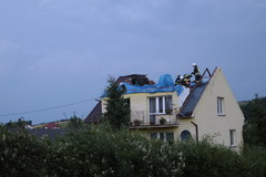 Zniszczenia po trąbie powietrznej w okolicach Nowego Sącza