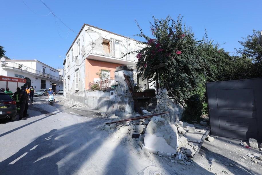 Zniszczenia po trzęsieniu ziemi /STRINGER /PAP/EPA