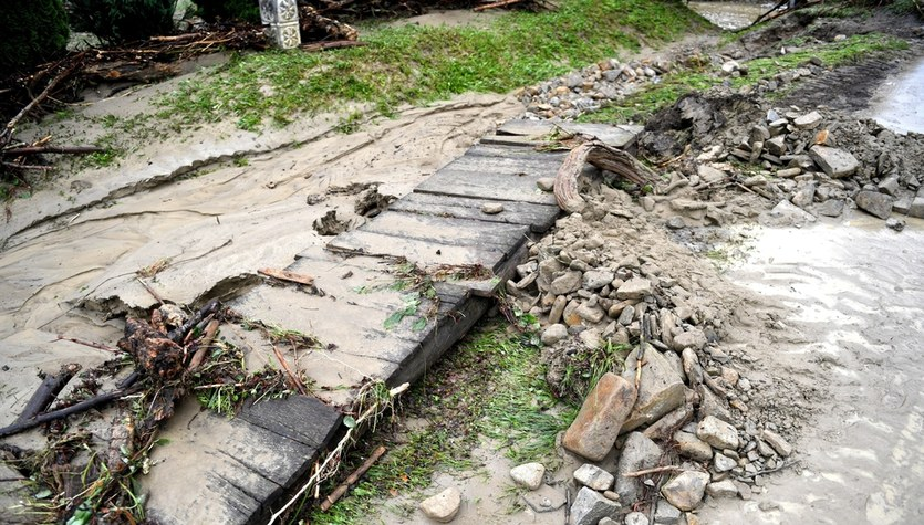 Zniszczenia po ulewach na Podkarpaciu
