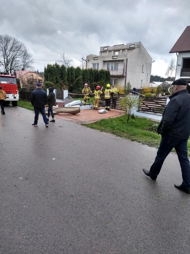 Zniszczenia po wichurze w Lubuskiem /Gorąca Linia RMF FM