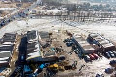 Zniszczenia po wybuchu w Sosnowcu