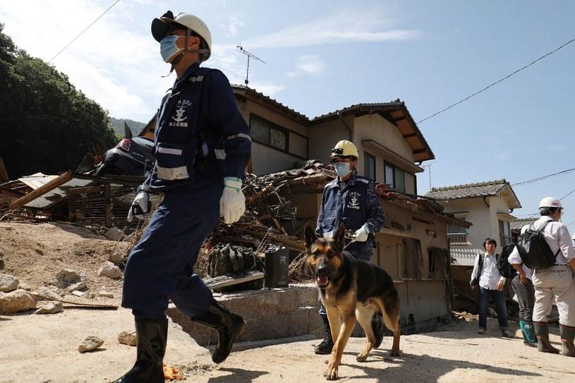 Zniszczenia tegorocznych powodzi w Japonii /JIJI PRESS /AFP