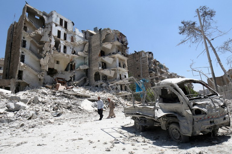 Zniszczenia w Aleppo, zdj. ilustracyjne /AFP