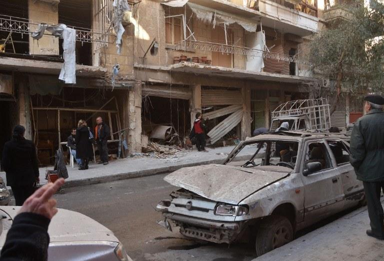 Zniszczenia w Aleppo, zdj. ilustracyjne /GEORGE OURFALIAN / AFP /AFP