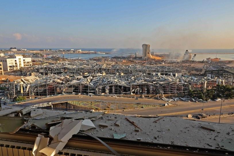 Zniszczenia w Bejrucie /AFP