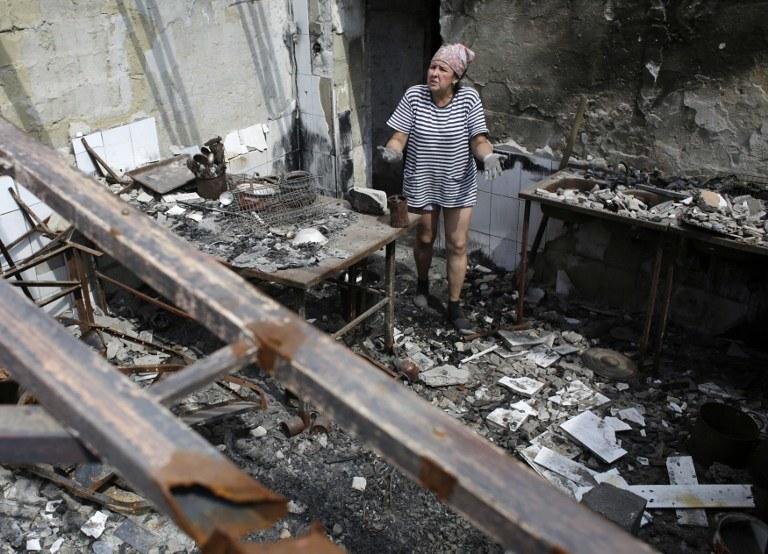 Zniszczenia w Doniecku /AFP