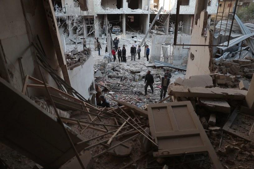 Zniszczenia w Doumie, niedaleko Damaszku, zdjęcie ilustracyjne /AFP