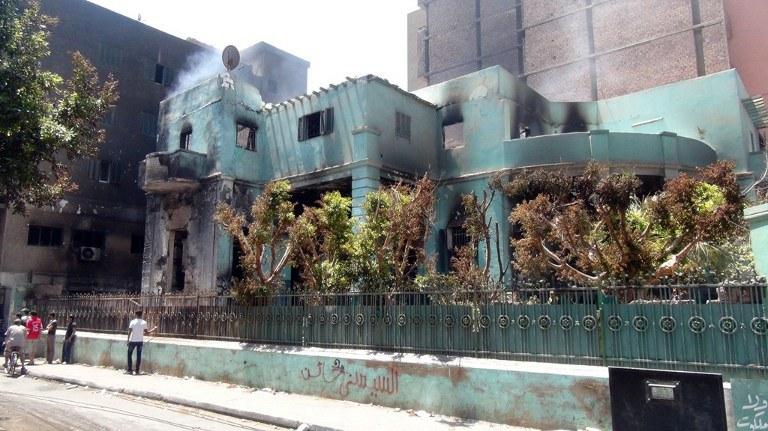Zniszczenia w Egipcie /AFP