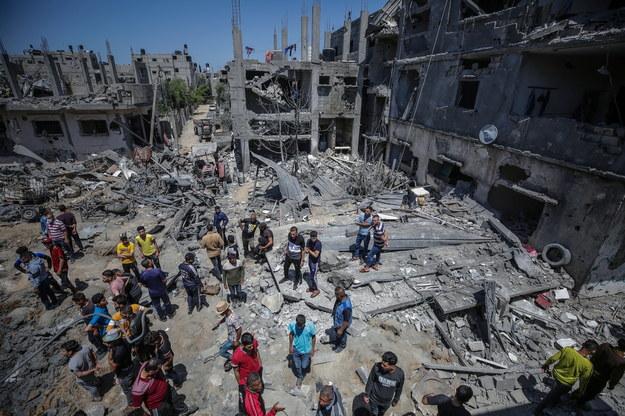 Zniszczenia w strefie Gazy /MOHAMMED SABER  /PAP/EPA