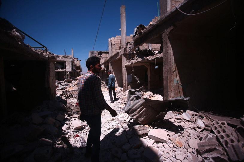 Zniszczenia wojenne w Syrii /MOHAMMED BADRA /PAP/EPA