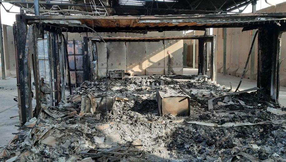 Zniszczona baza Ain al-Assad / STR   /PAP/EPA