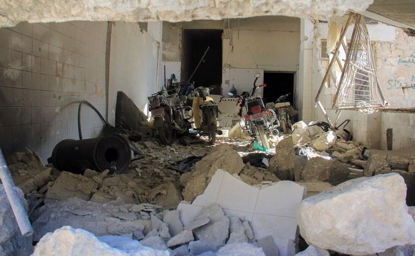 Zniszczona działaniami wojennymi Syria /AFP /East News