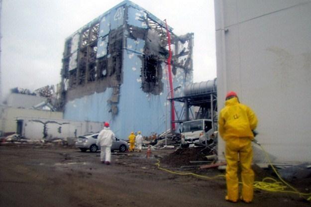 Zniszczona elektrownia Fukushima /AFP