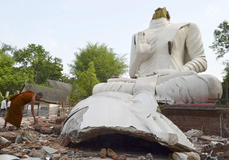 Zniszczona świątynia w Wat Udom Waree /CHAICHAN CHAIMUN /PAP/EPA