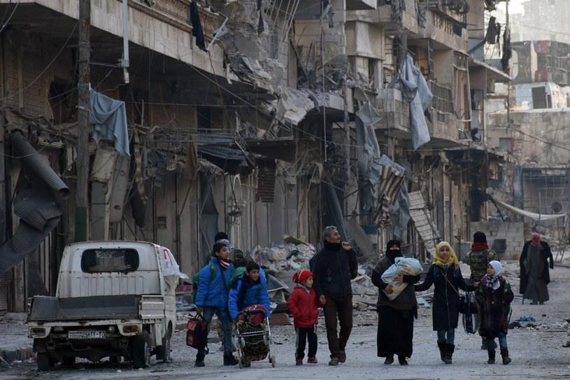 Zniszczone Aleppo /PAP/EPA
