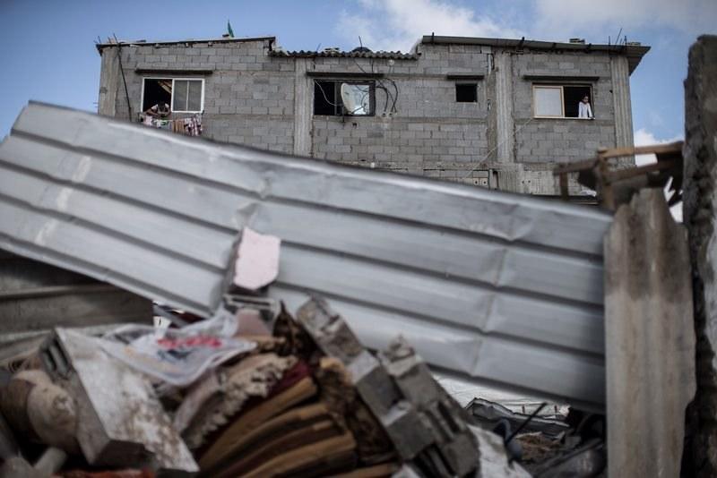 Zniszczone domy w Strefie Gazy /Oliver Weiken /PAP/EPA