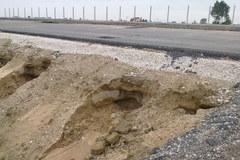 Zniszczone nasypy autostrady A1