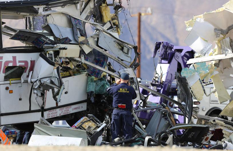Zniszczony autobus /Sam Mircovich/Reuters /Agencja FORUM