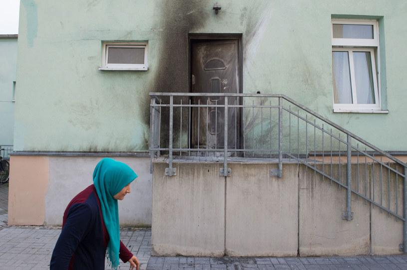 Zniszczony meczet w Dreźnie /AFP
