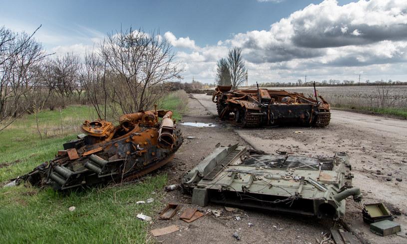 Zniszczony rosyjski czołg (wschodnia Ukraina)/zdjęcie ilustracyjne /Dariusz Prosiński /INTERIA.PL