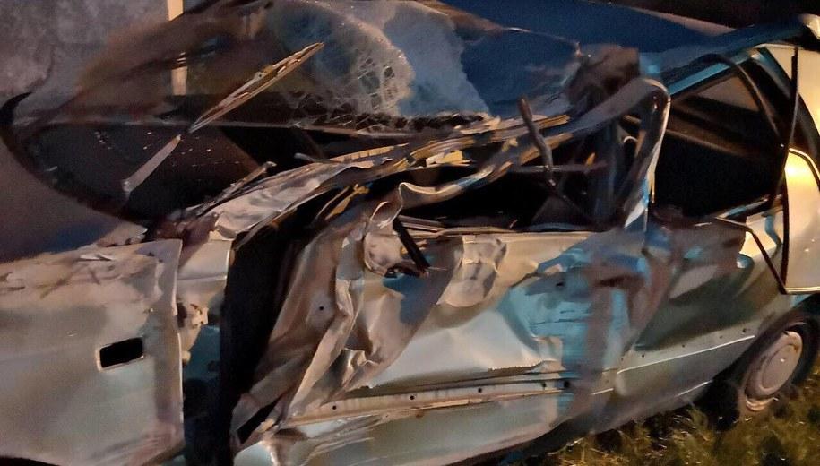 Zniszczony samochód /Gorąca Linia RMF FM