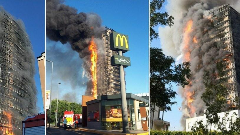 Zobacz potężny pożar 15-piętrowego wieżowca w Mediolanie [WIDEO] /Geekweek