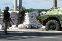 Zobaczcie punkt kontrolny separatystów przed Donieckiem