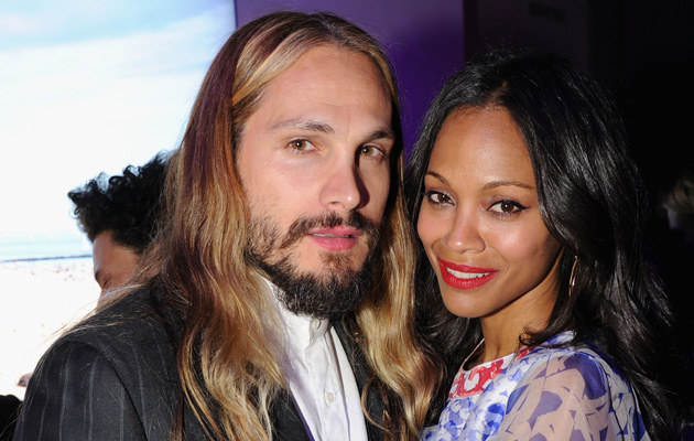 Zoe Saldana z mężem /Bryan Bedder /Getty Images